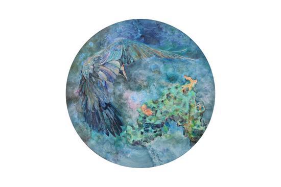 巩固 《其名为鲲之二》 布面油画 直径80cm 2017年