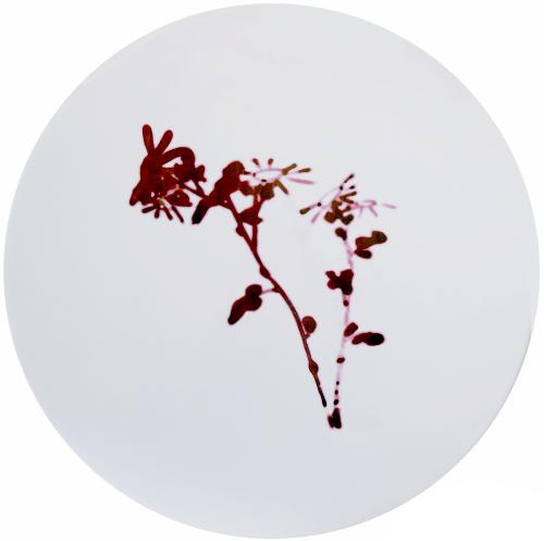 吴小琛《寻愁觅恨之呻吟语》直径110cm 2016年