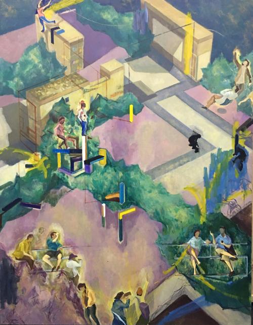 钟永诗《一》布面油画 140×180cm 2017年