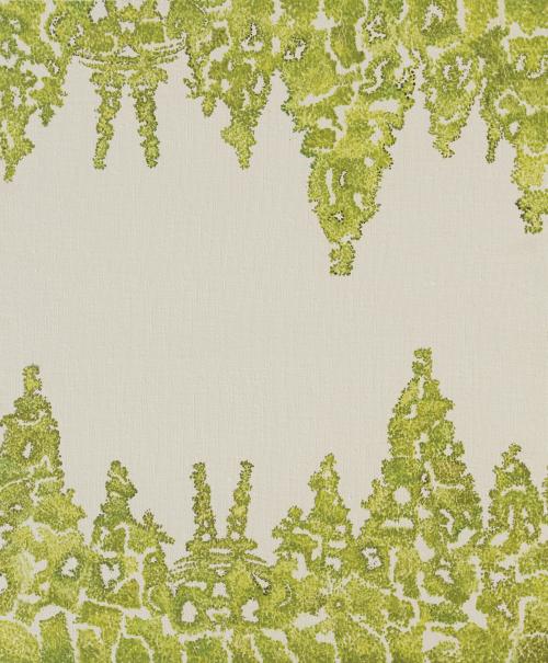 王海龙 《一吨风景-新的世界》 布面油画 50x60cm 2016年