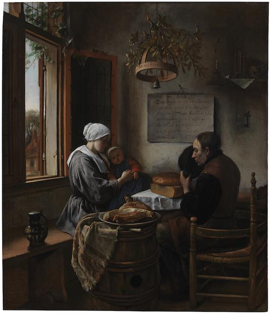 《餐前祷告》(The Prayer Before the Meal),扬·斯丁(Jan Steen),莱顿收藏