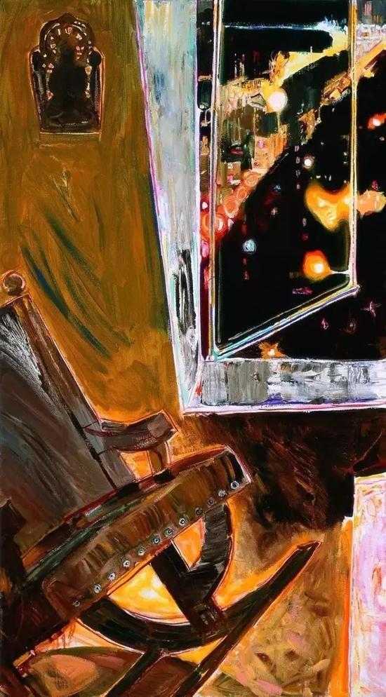 画室窗下 九联画左三 布面油画 2017