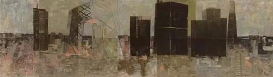 金融街 200x700cm 布面油画 2008