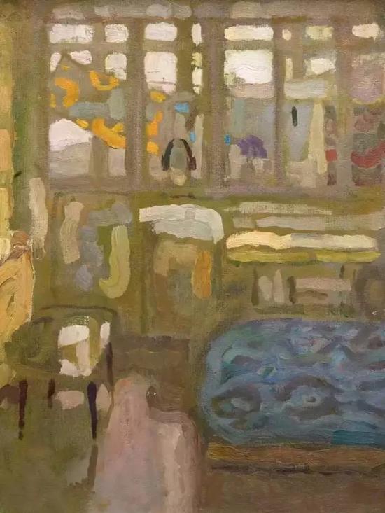 春天的下午 48x35cm 布面油画 1990