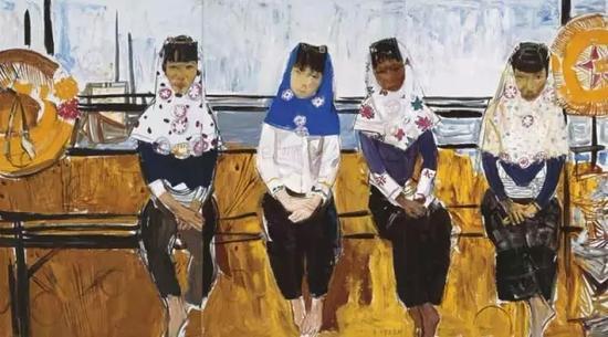 惠安女 90x240cm 布面油画 2011