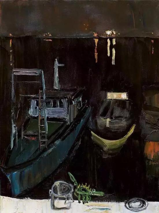春夜涠洲岛 80x60cm 布面油画 2008