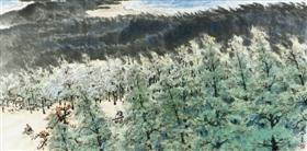 """关山月《绿色长城》,他曾于1935年入""""春睡画院"""",随高剑父学画"""