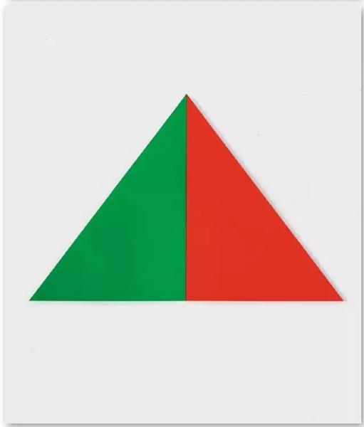 《绿橙》(Green Orange),1970年,177.8*271.8cm,2节连接面板,布面油画
