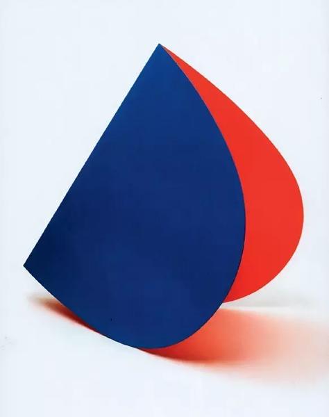 《淡橙色与绿》,1991年,237.5*215.3*6.7cm,2节连接面板,布面油画