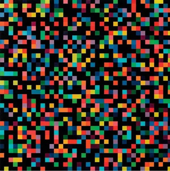 《随机光谱色》,1951-53年,152.4*152.4cm,布面油画