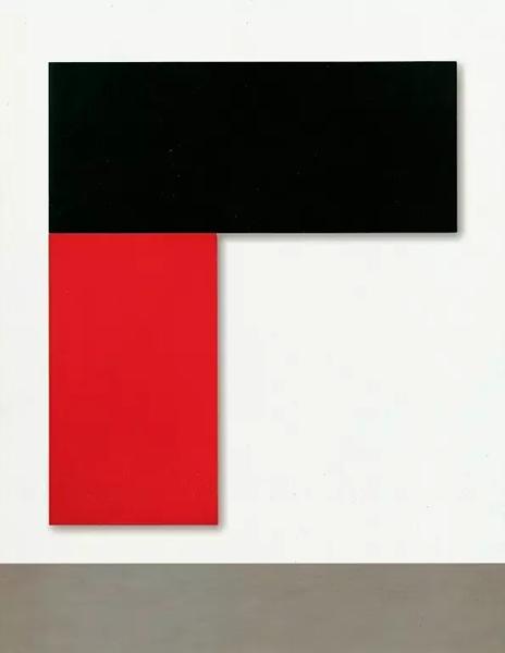 《查塔姆10号:黑红》,1971年,274.3*243.2cm,2节连接面板,布面丙烯