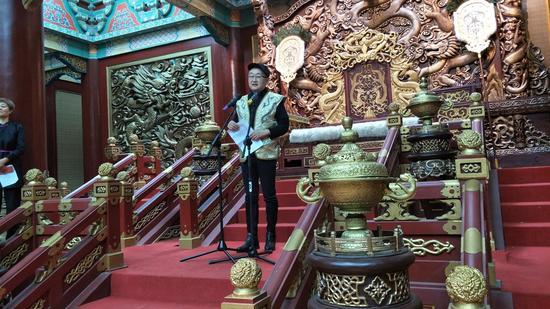 内蒙古草原文化保护发展基金会理事长葛健博士致辞