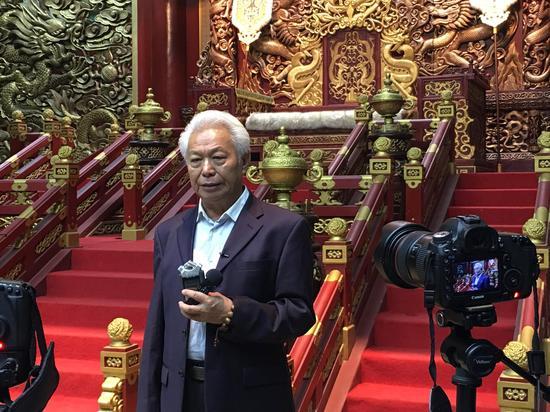 大型历史电视连续剧《忽必烈》总导演黄健中接受媒体采访谈创作、拍摄过程