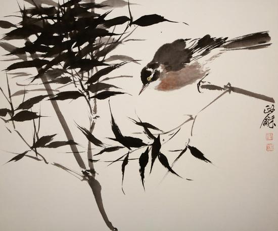 方政和 《鸟与竹》
