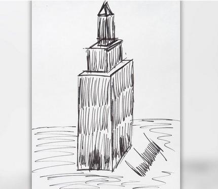 从100美元涨到1.2万!这张帝国大厦草稿图值钱了(纽约每日新闻)