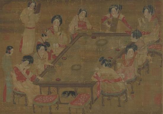 唐人《宫乐图》轴