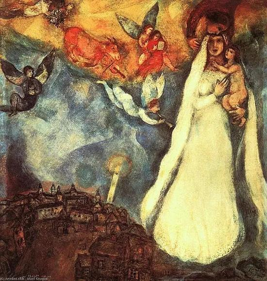 Marc Chagall - Madonna of village