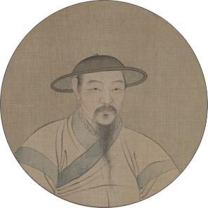 赵孟頫《自画像》。