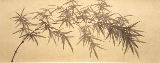 赵孟頫、管道昇、赵雍合作的《墨竹图》。
