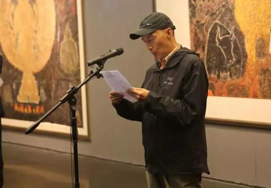 原西藏自治区美术家协会主席韩书力先生致辞