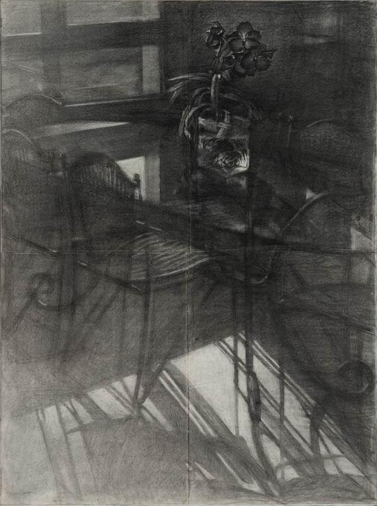 兰花素描画法步骤