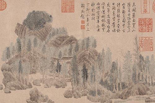 浮玉山居图(局部)钱选