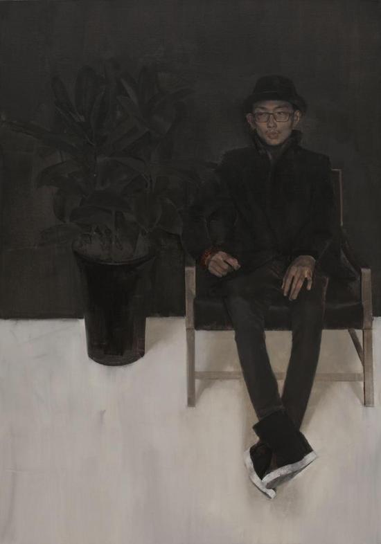 《黑色丛林》布面油画 136cm×195cm  2016年
