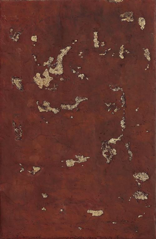 《无痕》木板大漆、泥土 80X122cm 2017