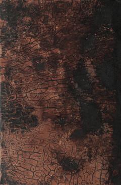 《风后》木板大漆、泥土 80X122cm 2017