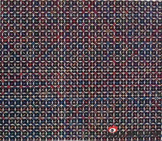布面作品 十示1991-1 布面丙烯 120 x 140 cm