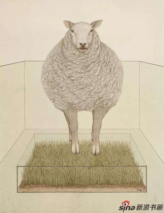 城市牧羊 120×93cm 纸本水墨 2015