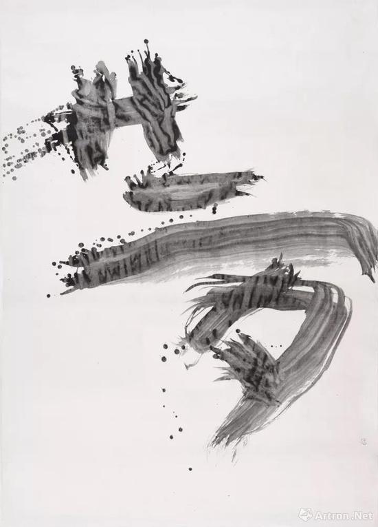《夢》 204×146cm 墨 和紙 1968. 1. 8