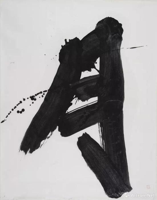 《月》 127×98cm 墨 和紙 1982