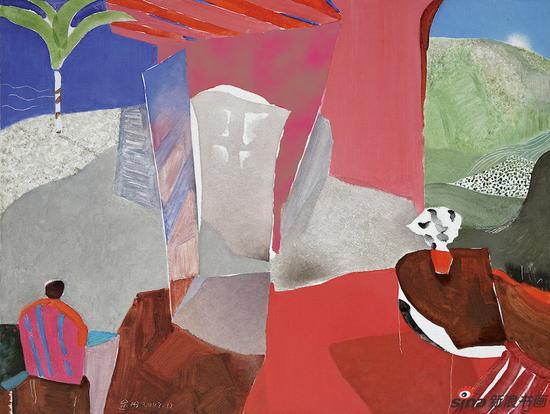 《亚维侬的阳光》100cm×130cm 布面油画 2007 时代同行长三角美术作品联展作品