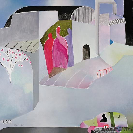 《去苏州工业园》130cmx130cm 布面油画 2008 第九届中国艺术节?全国优秀美术作品展作品