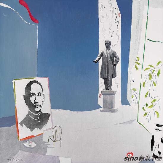 《2011年我画孙中山》130×130cm 布面油画2011