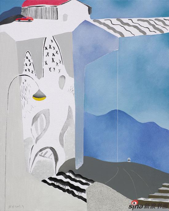 《远方驿站》162cm×130cm 布面油画 2013