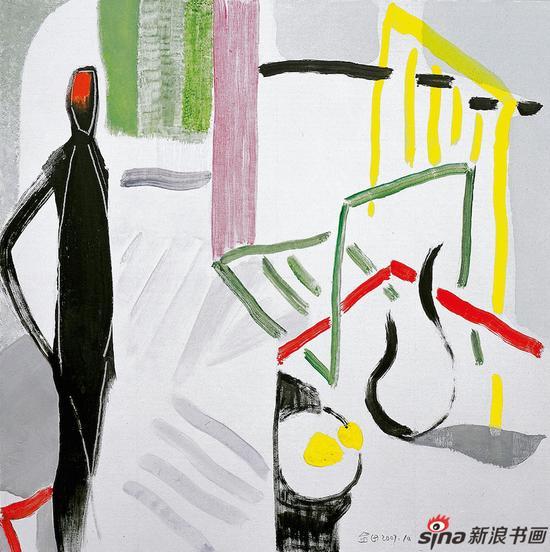 《亚维侬早餐》81cmx81cm 布面油画 2007