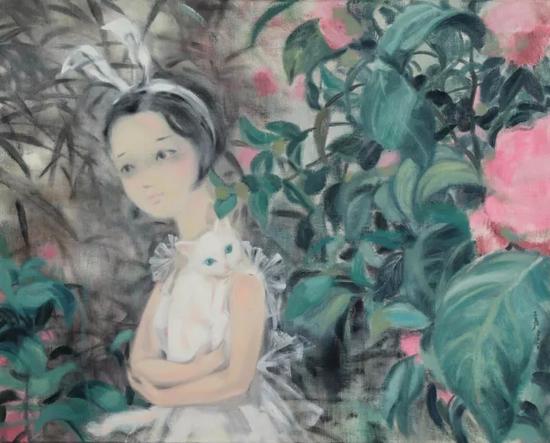 《花仙》80x100cm 布面油画 2017