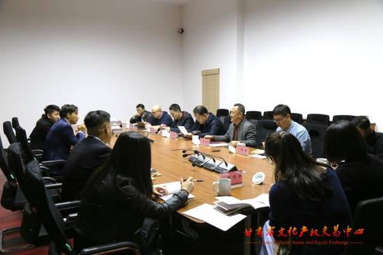 河北省委宣传部考察组赴甘肃文交中心考察调研