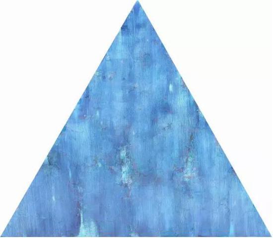 王远《蓝雨》布上油画 等边三角形