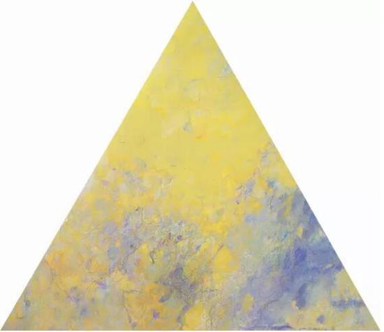 王远《罩》布上油画 等边三角形 上海美术馆藏