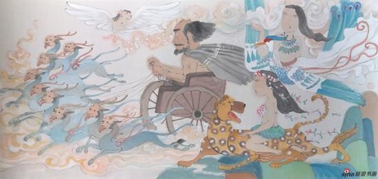 马小娟作品 中华神话-连环画绘本系列之二 53x33cm 2016年