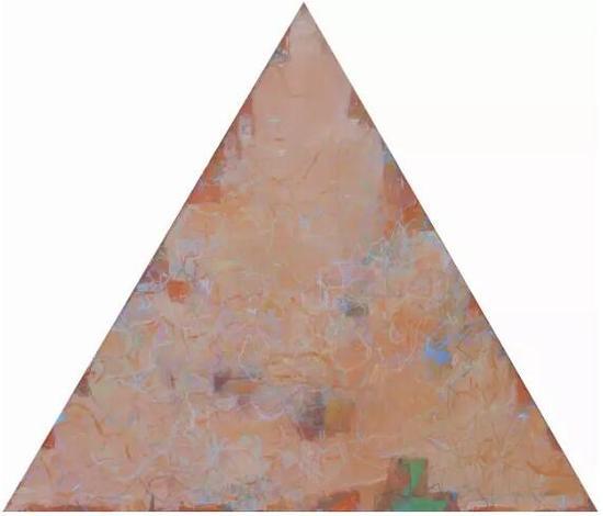 王远《万牲园》布上油画 等边三角形