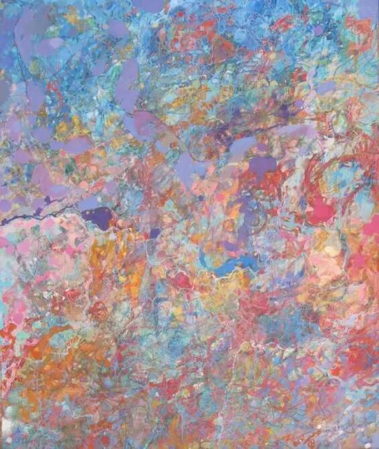 王远《水泡》布上油画