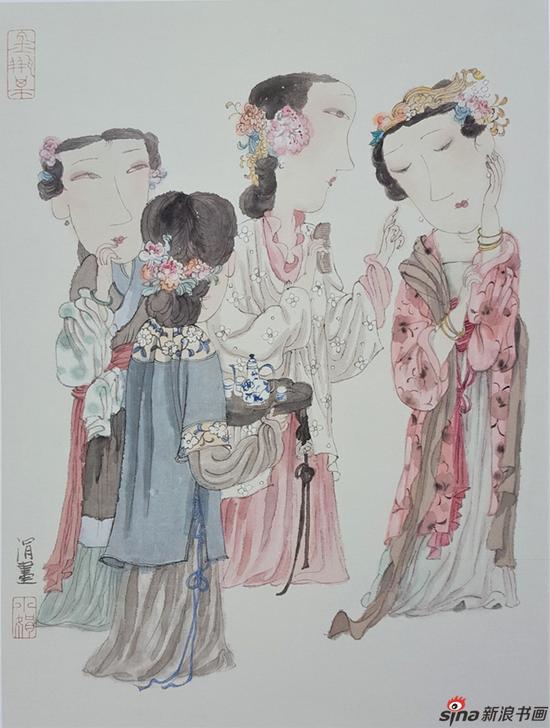 马小娟作品-金瓶梅百图之二十 50x33cm 2007年