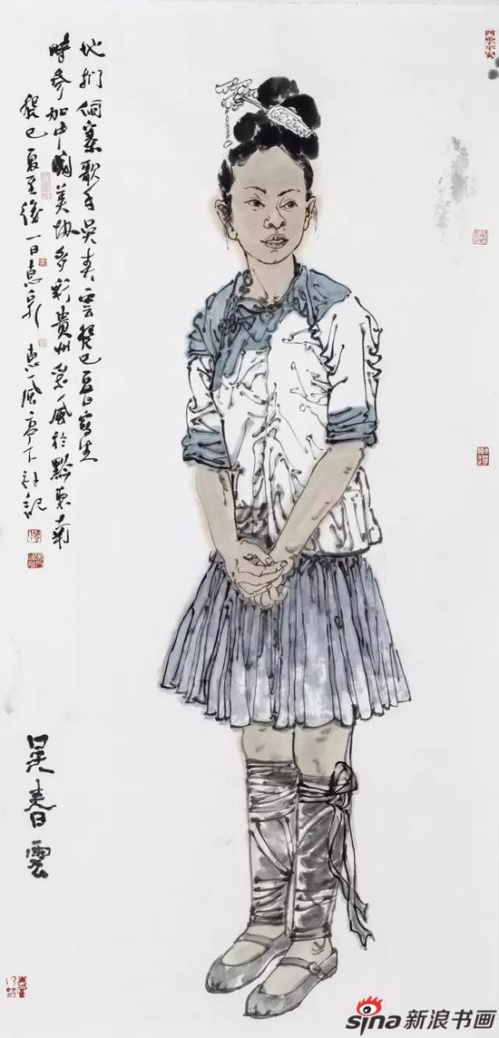 侗族歌手吴春云 136x68cm 2013年