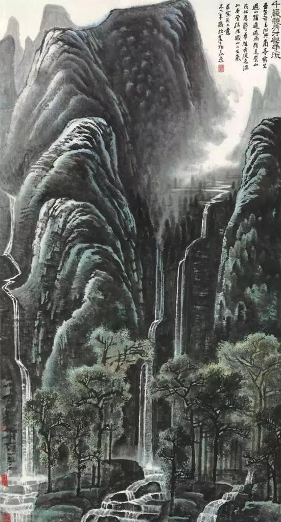 1.2亿港元的李可染《千岩竞秀万壑争流》