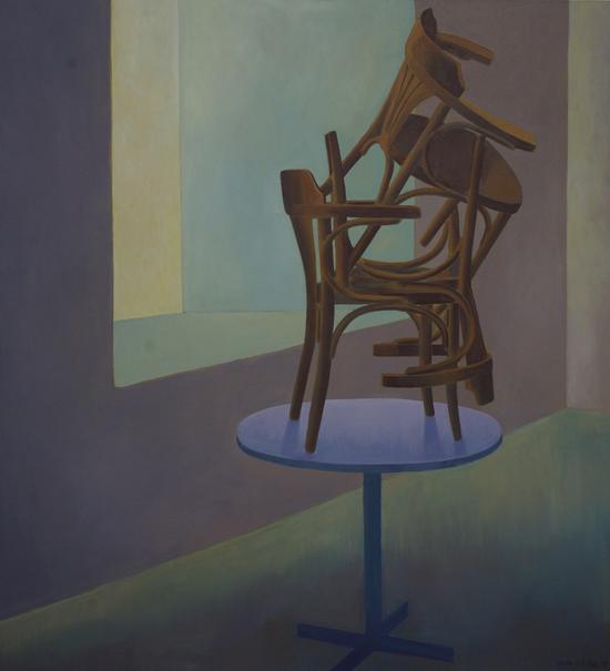 中捷驻馆艺术家安东尼在北京完成的第一张创作《椅子》