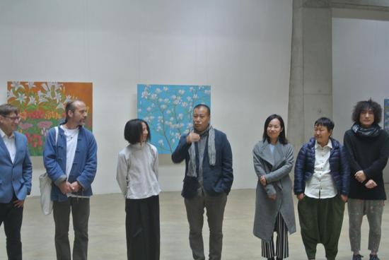 中央美术学院中国画院副院长刘庆和开幕发言